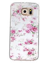 Für Samsung Galaxy Hülle Muster Hülle Rückseitenabdeckung Hülle Blume TPU Samsung S7 / S6 edge / S6