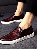 Zapatos de Hombre - Sneakers a la Moda - Exterior / Oficina y Trabajo / Casual - Semicuero - Negro / Rojo / Gris