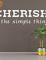AYA™ DIY Wall Stickers Wall Decals, Cherish The Simple Things English Words & Quotes PVC Wall Stickers