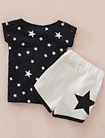 Girls' Galaxy Sets,Cotton Summer Short Sleeve Clothing Set
