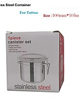 Basekey  Mid  Anchor-Hocking-1-Piece-Stainless-Steel-Clamp-Canister-Set-with-Clear-Lid-New