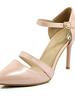 Women's / Girl's Wedding Shoes Heels / Pointed Toe / Open Toe Heels Wedding / Party & Evening / Pink / Silver