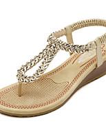 Women's Shoes  Wedge Heel Slingback / Open Toe Sandals Dress Black / Gold