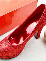 Zapatos de boda - Tacones - Tacones / Punta Redonda / Punta Cerrada - Boda - Rojo - Mujer