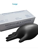 Basekey  Click Powder Free Black Disposable Nitrile Gloves Tattoo Mechanic Boxed 100