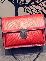VENETA Women PU Saddle Shoulder Bag / Satchel-Red / Black