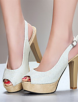 Women's Shoes Glitter / Customized Materials Chunky Heel Heels / Peep Toe / Platform Sandals Office & Career / Dress