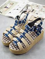 Women's Shoes Leatherette Platform Creepers Sandals Casual Blue