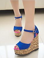 Fashion Women's Shoes Leatherette Platform Peep Toe / Platform / Creepers Sandals Office & Career / Dress / Casual
