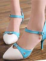 Scarpe Donna-Scarpe col tacco-Ufficio e lavoro / Formale / Casual-Tacchi / A punta-A stiletto-Finta pelle-Nero / Blu / Rosso
