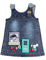 Children's Dress Cartoon Cowboy Dress Girls Dresses(Random Printed)