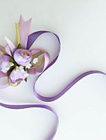 Buquê de Pulso(Amêndoa / Rosa / Roxo / Marfim,Algodão) - deRosas
