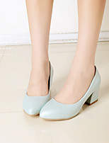 Women's Shoes Chunky Heel Round Toe Heels Casual Blue / Pink / White