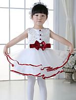 A-line Short/Mini Flower Girl Dress - Tulle Sleeveless