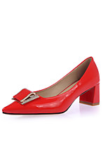 Women's Shoes Chunky Heel Heels / Pointed Toe Heels Office & Career / Party & Evening / Dress Black / Red