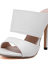 Women's Shoes  Stiletto Heel / Open Toe Sandals Wedding / Office & Career / Party & Evening / Dress Black / White