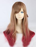 lunga parrucca riccia parrucche dei capelli colore del fumetto di modo