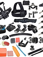 Gopro Accessories 40 in 1 Set Helmet Harness Chest Belt Mount Strap Monopod Go pro hero4 3+ 2 1 xiaomi yi