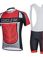 CHEJI Men Breathable Quick Dry Bike Clothing Bicycle Wear Riding Short Sleeve Bib Shorts Cycling Jerseys Suit