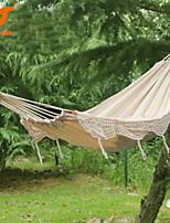 SWIFT Outdoor® New 100% Cotton Thickening Canvas outdoor 2 Person Portable Tassel Hammock White Fringe Hammock