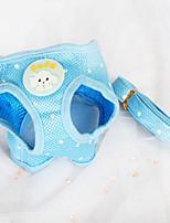 Perros Bozales / Correas Ajustable/Retractable / Lunares / Transpirable Azul Textil