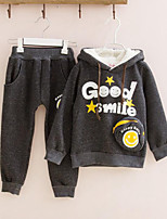 Girls' Casual/Daily Print Sets,Cotton Winter Fall Long Sleeve Clothing Set