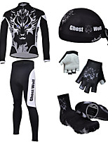 CHEJI Men's Cycling Short Sleeves Sets & Pirate Hat + Gloves + Shoe Cover