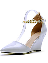 Women's Shoes Wedge Heel Wedges / Pointed Toe Heels Office & Career / Party & Evening / Dress Pink / Red / White