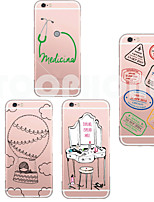 Для Кейс для iPhone 6 / Кейс для iPhone 6 Plus Прозрачный / С узором Кейс для Задняя крышка Кейс для Мультяшная тематика Мягкий TPUiPhone