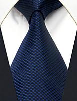 Men's Tie Navy Blue Dots Fashion 100% Silk  Business