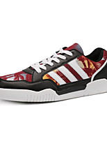 Men's Shoes Outdoor / Office & Career / Athletic / Casual Fabric / Leatherette Fashion Sneakers Black / Blue / Red