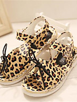 Girls' Shoes Outdoor / Casual Open Toe Faux Leather Sandals Animal Print