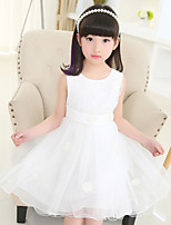 Girl's Pink / White Dress,Ruffle Acrylic All Seasons