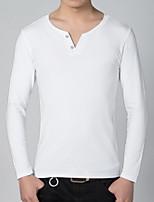 Men's Fashion Casual Long Sleeved  V-neck T-shirt