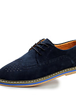 Men's Shoes Office & Career / Casual Suede Oxfords Black / Blue / Gray