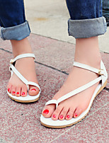 Women's Shoes Heel Toe Ring Sandals Outdoor / Dress / Casual Pink / White