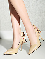 Women's Shoes Cowhide / Nappa Leather Stiletto Heel Heels / Basic Pump / Pointed Toe Heels / Slip-onOffice &