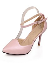 Women's Shoes Leatherette Stiletto Heel Heels Heels Wedding / Office & Career / Party & Evening Blue / Pink / White