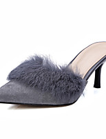 Women's Shoes Suede / Sheepskin Stiletto Heel Heels / Slingback / Pointed Toe Heels / Clogs & Mules Outdoor
