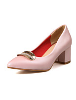 Women's Shoes Chunky Heel Comfort / Pointed Toe Heels Wedding / Outdoor / Dress / Casual Blue / Pink / White