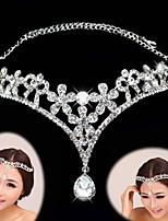 Bergkristal / Licht Metaal Vrouwen / Bloemenmeisje Helm Bruiloft / Speciale gelegenheden Hoofdketting Bruiloft / Speciale gelegenheden1