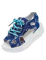 Women's Shoes Denim Platform Creepers Sandals Outdoor / Casual Blue