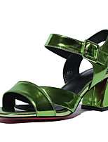 Women's Shoes Patent Leather Chunky Heel Heels / Peep Toe / Slingback / Fashion Boots Sandals Wedding / Party & Evening