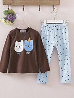 Girls' Print Sets,Cotton Spring Fall Long Sleeve Clothing Set
