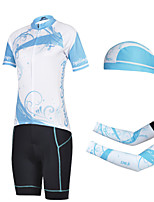 CHEJI Short Sleeve Bicycle Cycling Jersey Suit Pirate Scarf & Sleeves