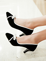 Women's Shoes Stiletto Heel Pointed Toe Heels Casual Black / Almond / Burgundy