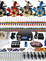 Solong Tattoo Complete Tattoo Kit 4 Pro Machine Guns 54 Inks Power Supply Foot Pedal Needles Grips Tips TK458