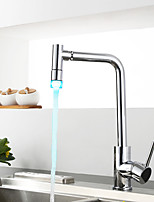 LED Kitchen Faucet Tall/High Arc Standard Spout Centerset LED Thermostatic Rain Shower with  Ceramic ValveSingle Handle Kitchen Mixer Tap