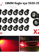 LED Eagle Eye Daytime Running DRL Backup Light Fog Car Auto Red 12V 18MM 9W X 20
