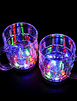 coloré conduit verre flash bière (2 pcs / 380ml)